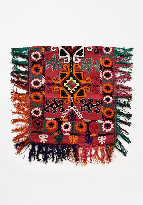 1960's Uzbekistan Embroidered & Beaded Textile
