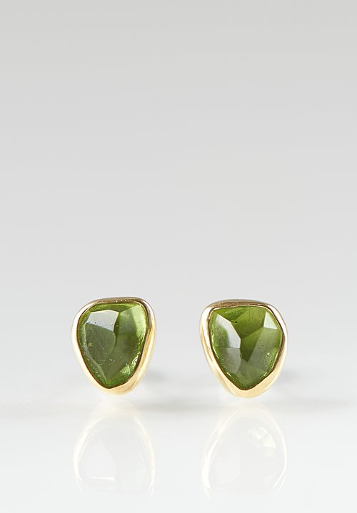 Margoni 18K Gold, Peridot Posts