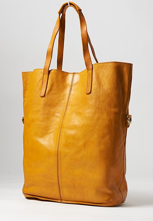 Campomaggi Large Shopping Tote in Yellow