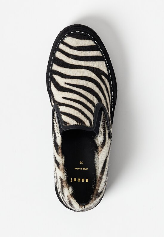 Sacai Faux Zebra Slip On Shoes