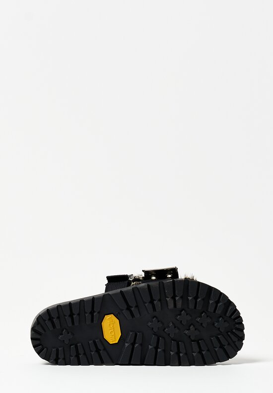 Sacai Faux Zebra Belted Sandals