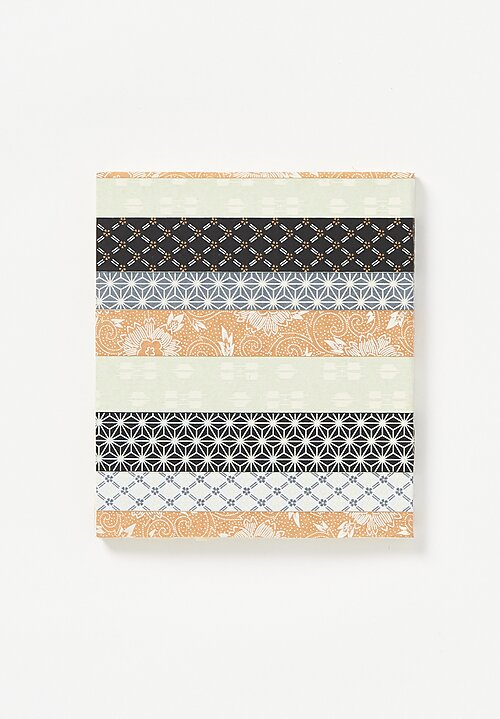 Elam Handprinted Japanese Chiyogami Paper Notebook in Horizontal Kimono Stripes