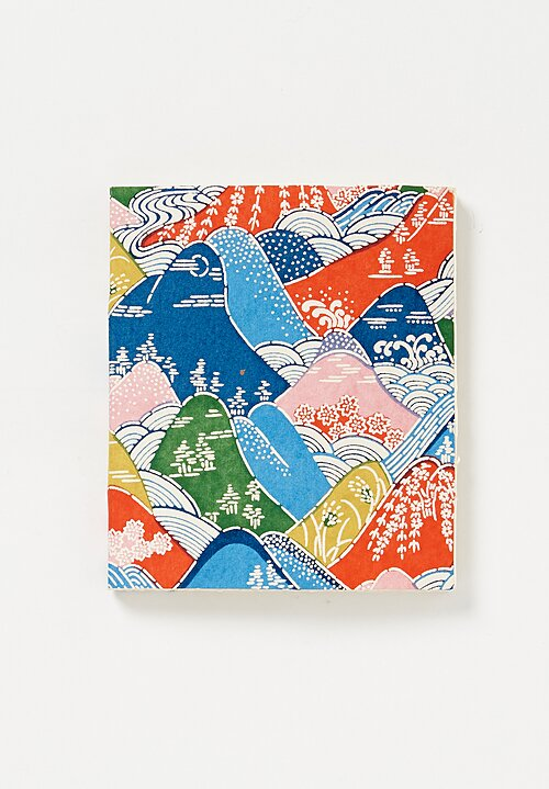 Elam Handprinted Japanese Chiyogami Paper Notebook in Rivers & Mountains
