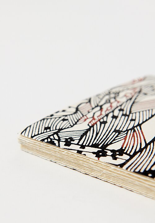 Elam Handprinted Japanese Chiyogami Paper Notebook in Muscles/ Black