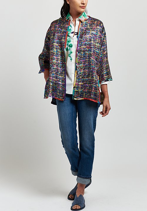 Etro Cotton Painted Flower Print Shirt in White