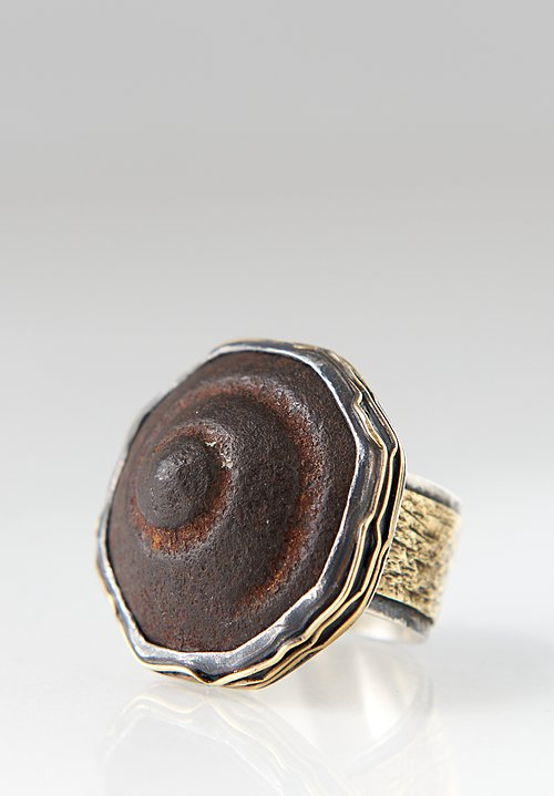 Pamela Adger Sterling, Brass, Iron Weight, Thailand Ring