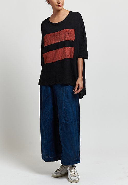 Gilda Midani Super Tee in Brush Urucum/ Black