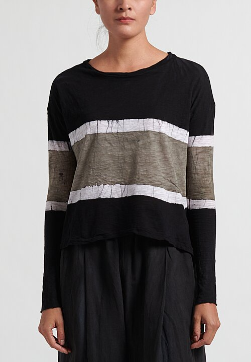 Gilda Midani Trapeze Tee in Stripes Black