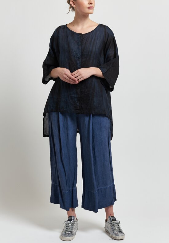 Gilda Midani Sheer Super Shirt in Marble Black