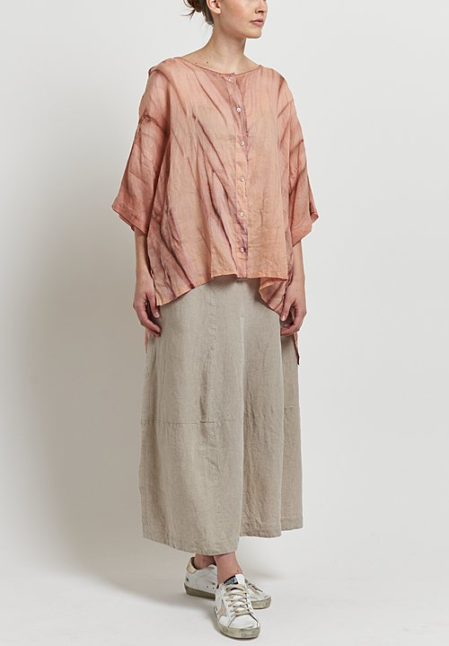 Gilda Midani Sheer Super Shirt in Marble Mellow Rose