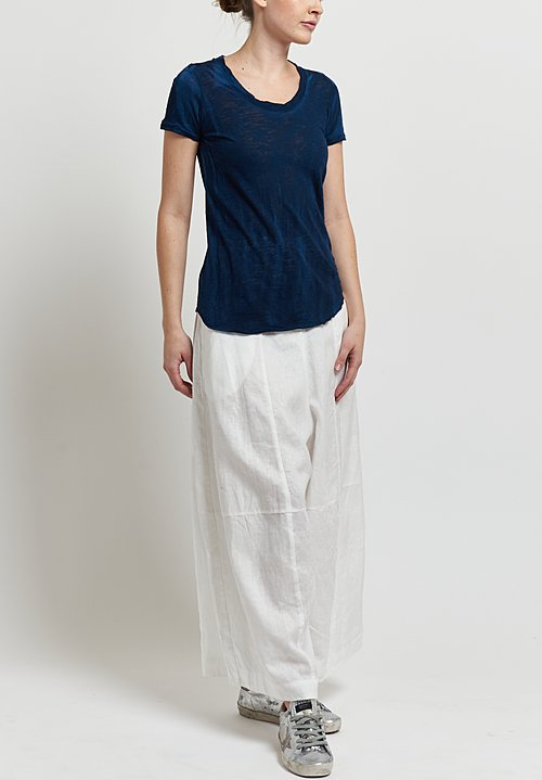 Gilda Midani Round Short Sleeve Tee in Indigo Blue