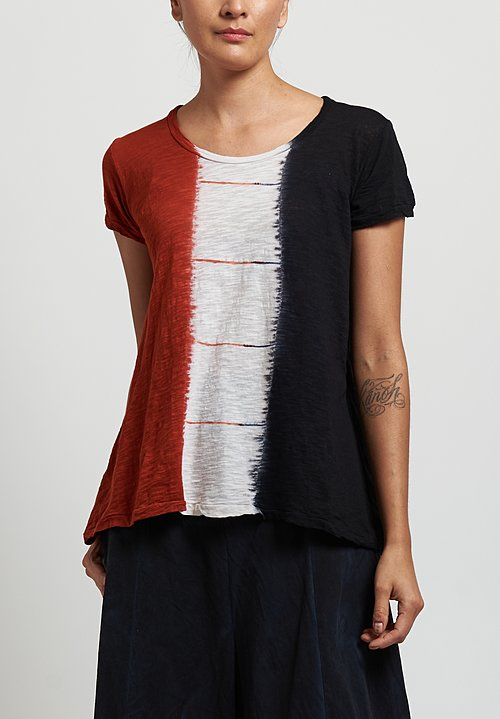 Gilda Midani Monoprix Tee in Dripped Black/ Urucum