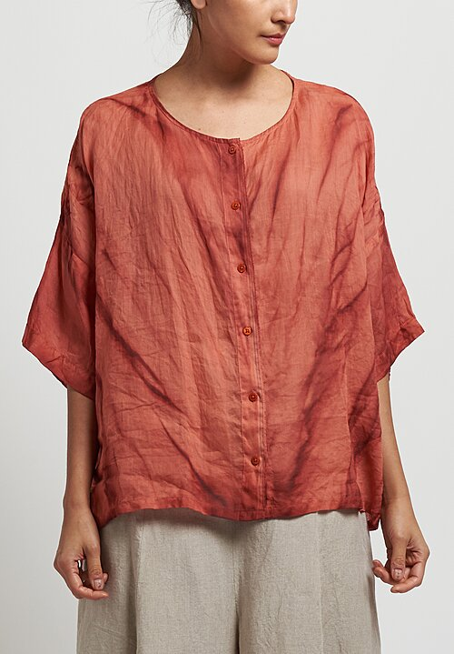 Gilda Midani Sheer Super Shirt in Marble Urucum