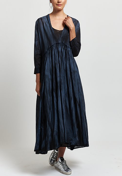 Gilda Midani Voile Princess Dress in Marble Black