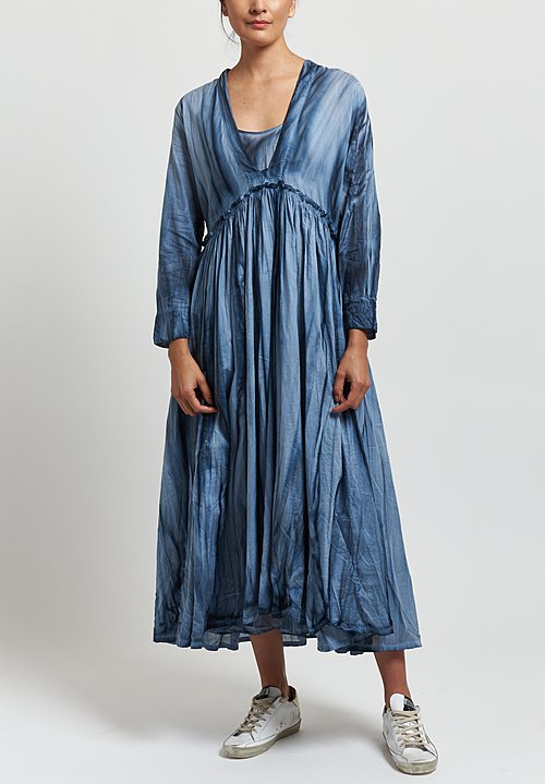 Gilda Midani Voile Princess Dress in Blue