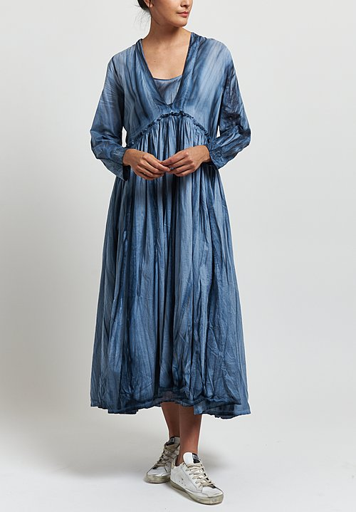 Gilda Midani Voile Princess Dress in Marble Steel Blue