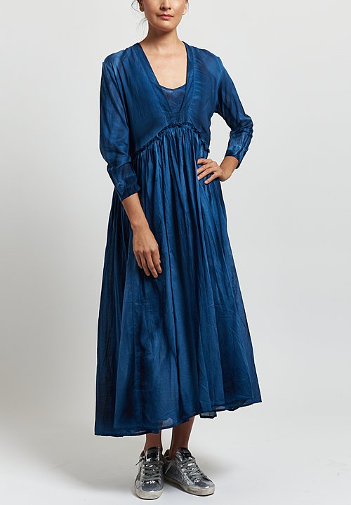 Gilda Midani Voile Princess Dress in Indigo Blue