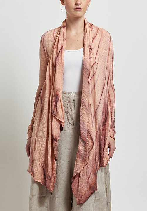 Gilda Midani Short Karan Cardigan in Marble Mellow Rose
