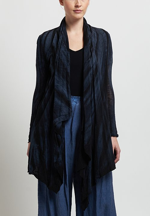 Gilda Midani Short Karan Cardigan in Marble Black
