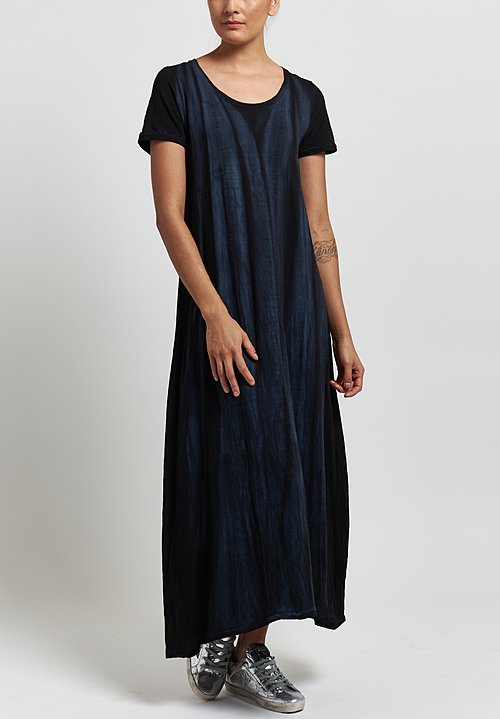 Gilda Midani Short Sleeve Monoprix Dress in Marble Black