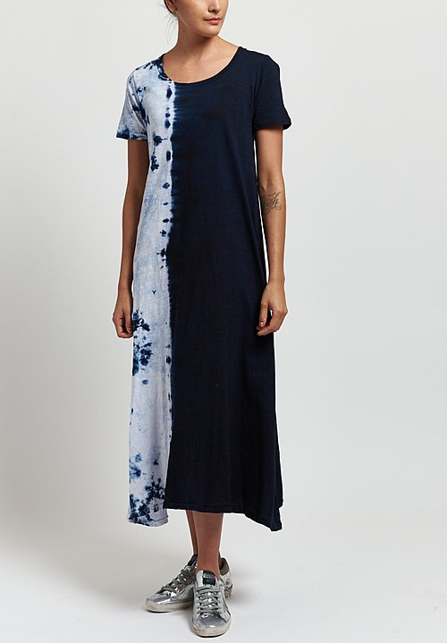 Gilda Midani Short Sleeve Monoprix Dress in Blue