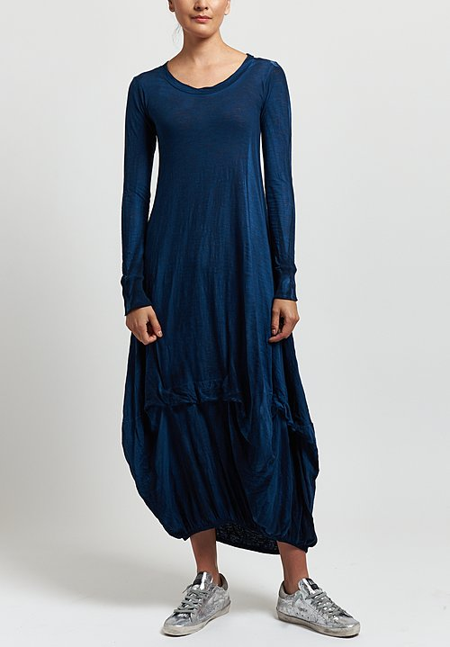 Gilda Midani Balloon Dress in Indigo Blue