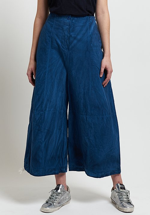 Gilda Midani Cotton Egg Pants in Indigo Blue