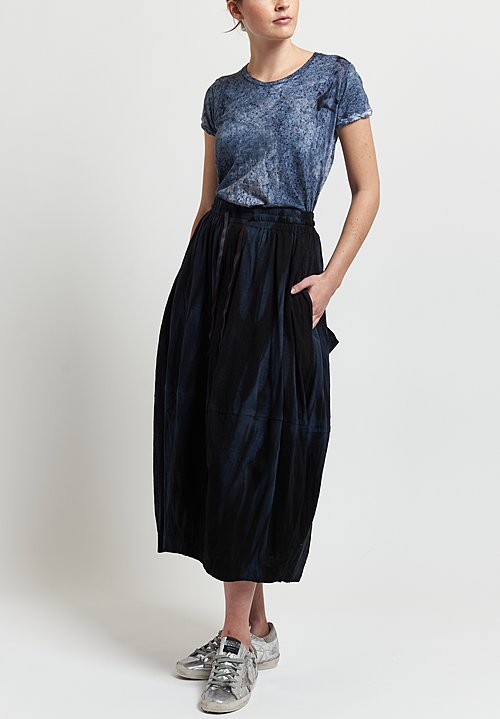 Gilda Midani Y Skirt in Marble Black
