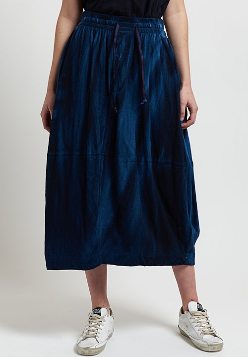 Gilda Midani Y Skirt in Indigo Blue