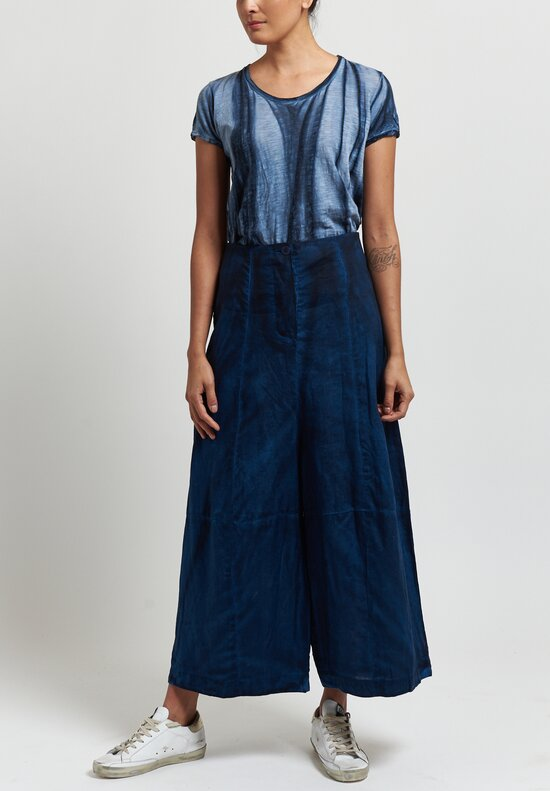 Gilda Midani Linen Egg Pants in Indigo