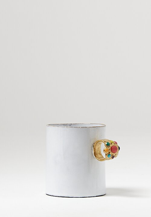Astier de Villatte Serena Ring Mug in White