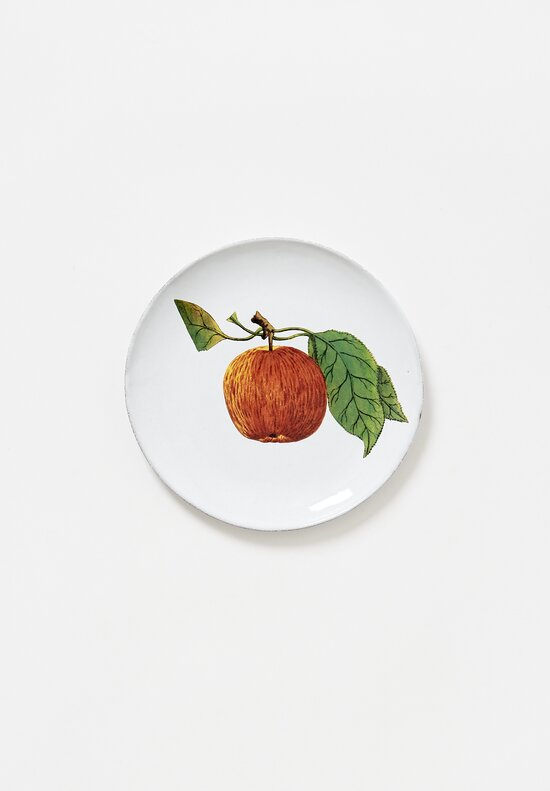 Astier de Villatte John Derian Red Apple Plate in White