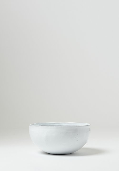 Astier de Villatte Simple Small Salad Bowl in White