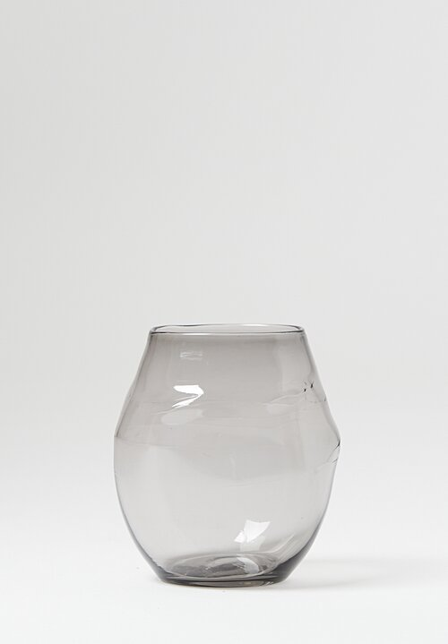 Michael Ruh Handblown Tumbler Glass Neutral Grey