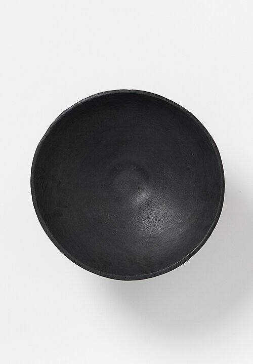 Danny Kaplan Handmade Low Pedestal Bowl in Matte Black