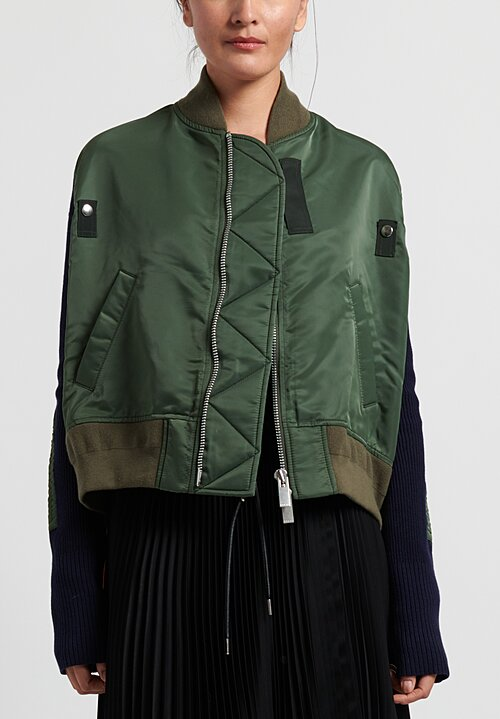 Sacai Multi Fabric Bomber Jacket