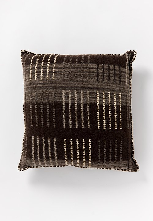 British Wool Geometric Large Square Cushion