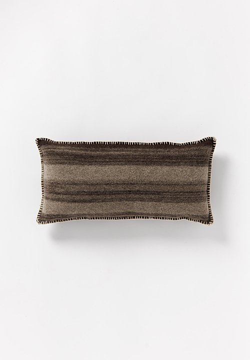 British Wool Geometric Lumbar Cushion