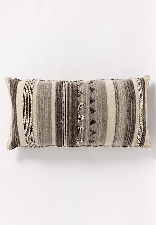 British Wool Geometric Large Rectangle Cushion