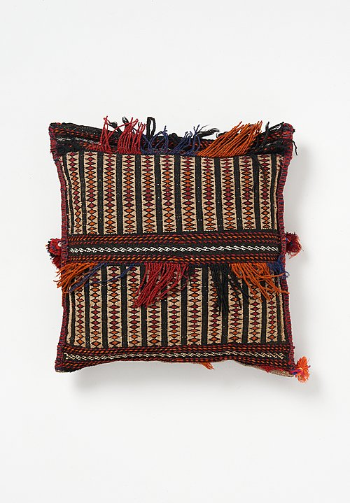Wool Afghan Fringe & Tassel Pillow