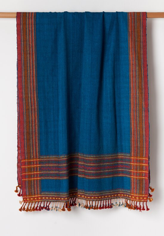 Shobhan Porter Bhujodi Tassel Throw Turquoise/ Orange