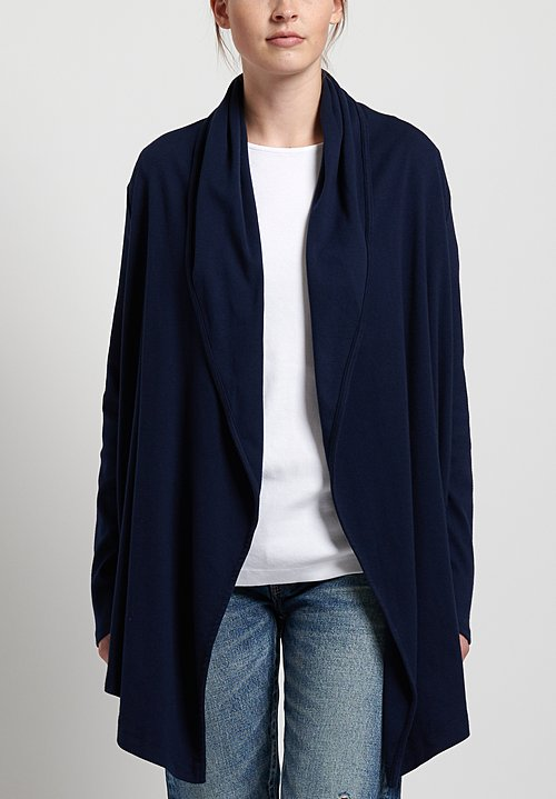 GRP1 Knits Cotton Easy Cardigan in Navy