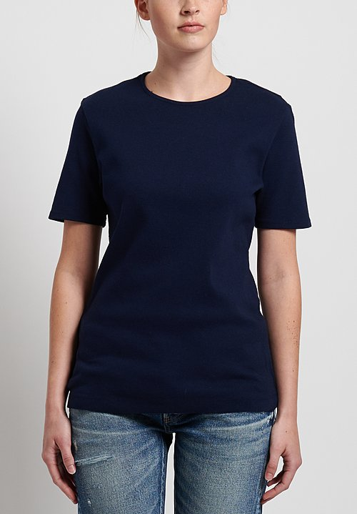 GRP1 Knits Cotton Shaped Tee in Navy