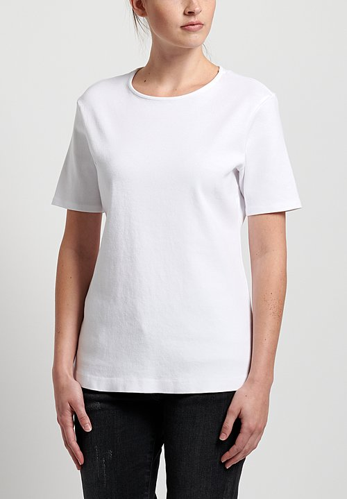GRP1 Knits Cotton Shaped Tee in White