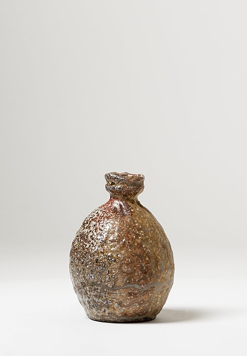Zablocki Ceramics Short Neck Vase in Brown