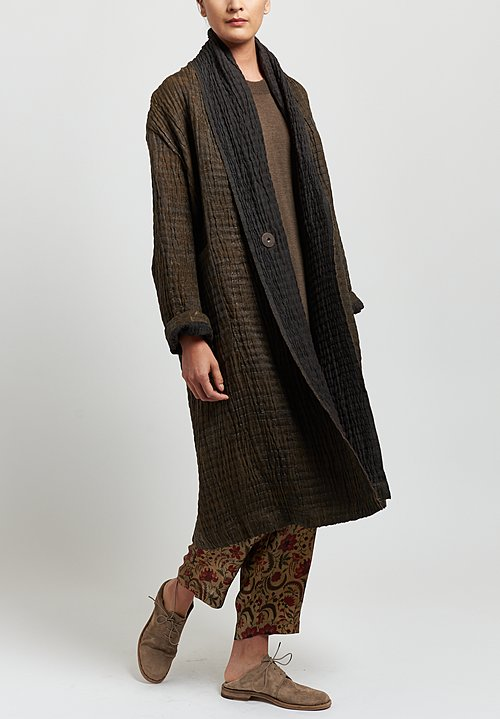 Uma Wang Silk Knit Dress in Brown