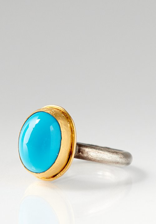 Greig Porter 22K, SS & Sleeping Beauty Turquoise Ring
