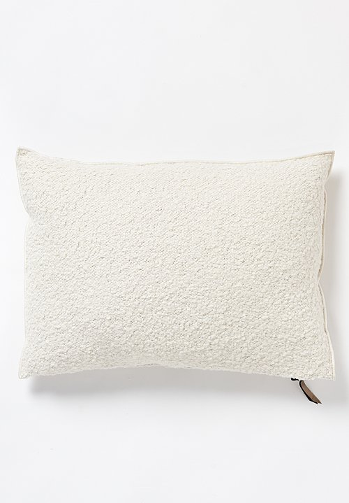 Maison de Vacances Large Canvas Yeti Pillow in Blanc