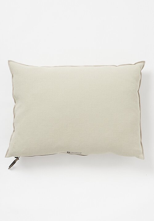 Maison de Vacanes Large Formentera Canvas Pillow in Ciment