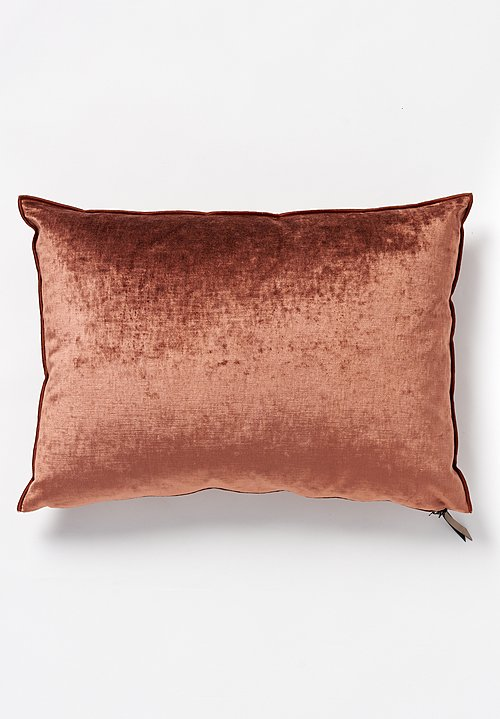 Maison de Vacances Large Royal Velvet Pillow in Argile